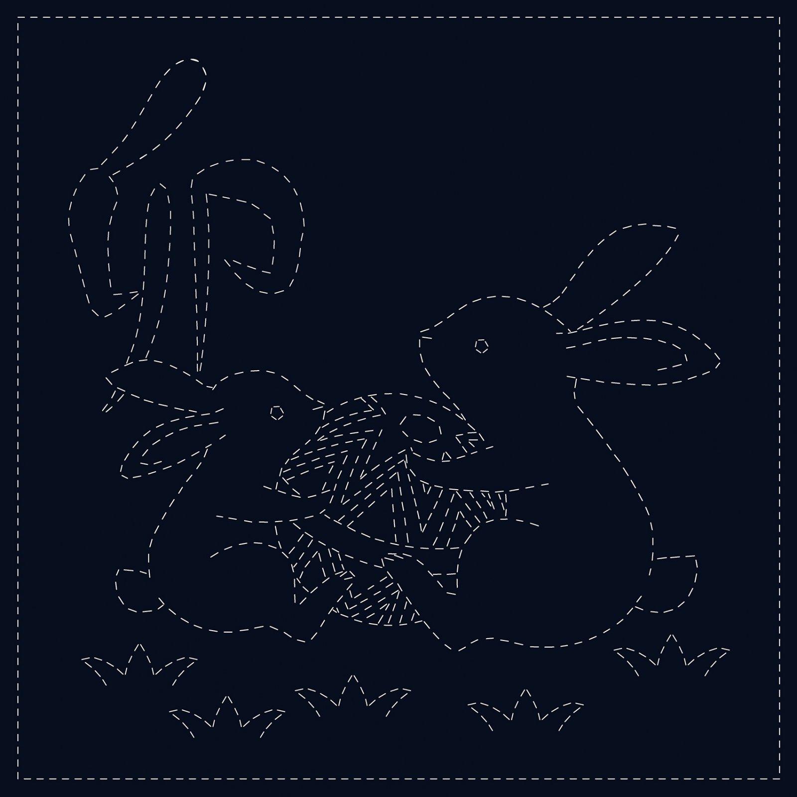 Sashiko Cloth Rabbits