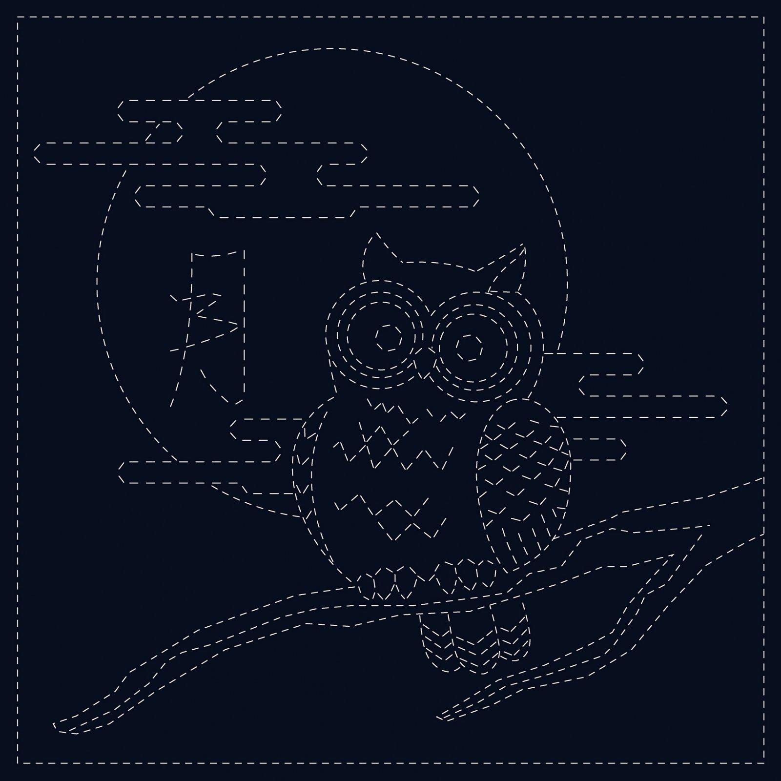 Sashiko Cloth Owl
