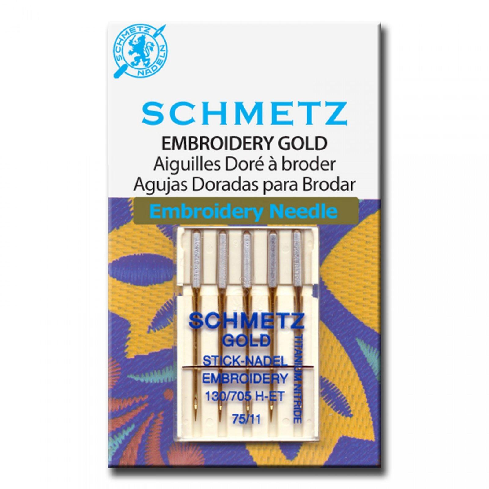 Schmetz Gold Embroidery Machine Needle 11/75