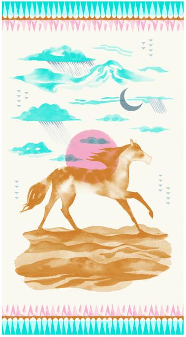 Santa Fe Sunrise Pink Panel