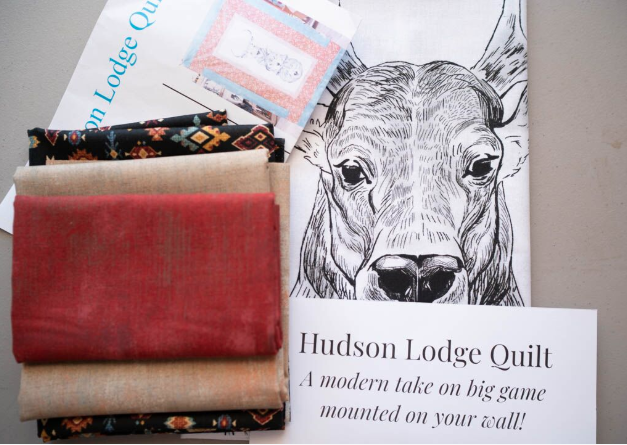 Hudson Lodge Quilt Kit - Graphite Canyon Creek