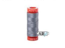 200m Aurifil 2610 Cotton Mako Thread 50wt Light Blue Grey