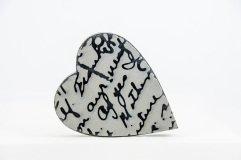 Script Heart Stamp
