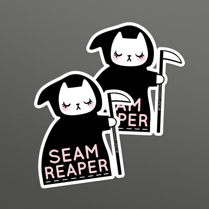 Crafted Moon Seam Reaper Cat Sticker, 1