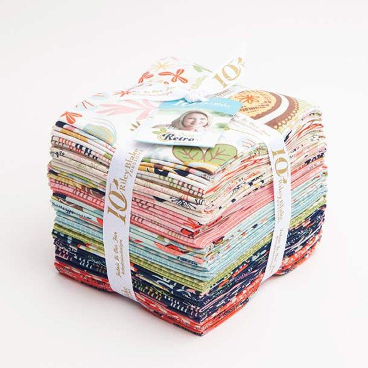 Sew Retro Fat Quarter Bundle 24pcs
