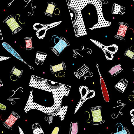 Sew Sassy Sewing Toss Black