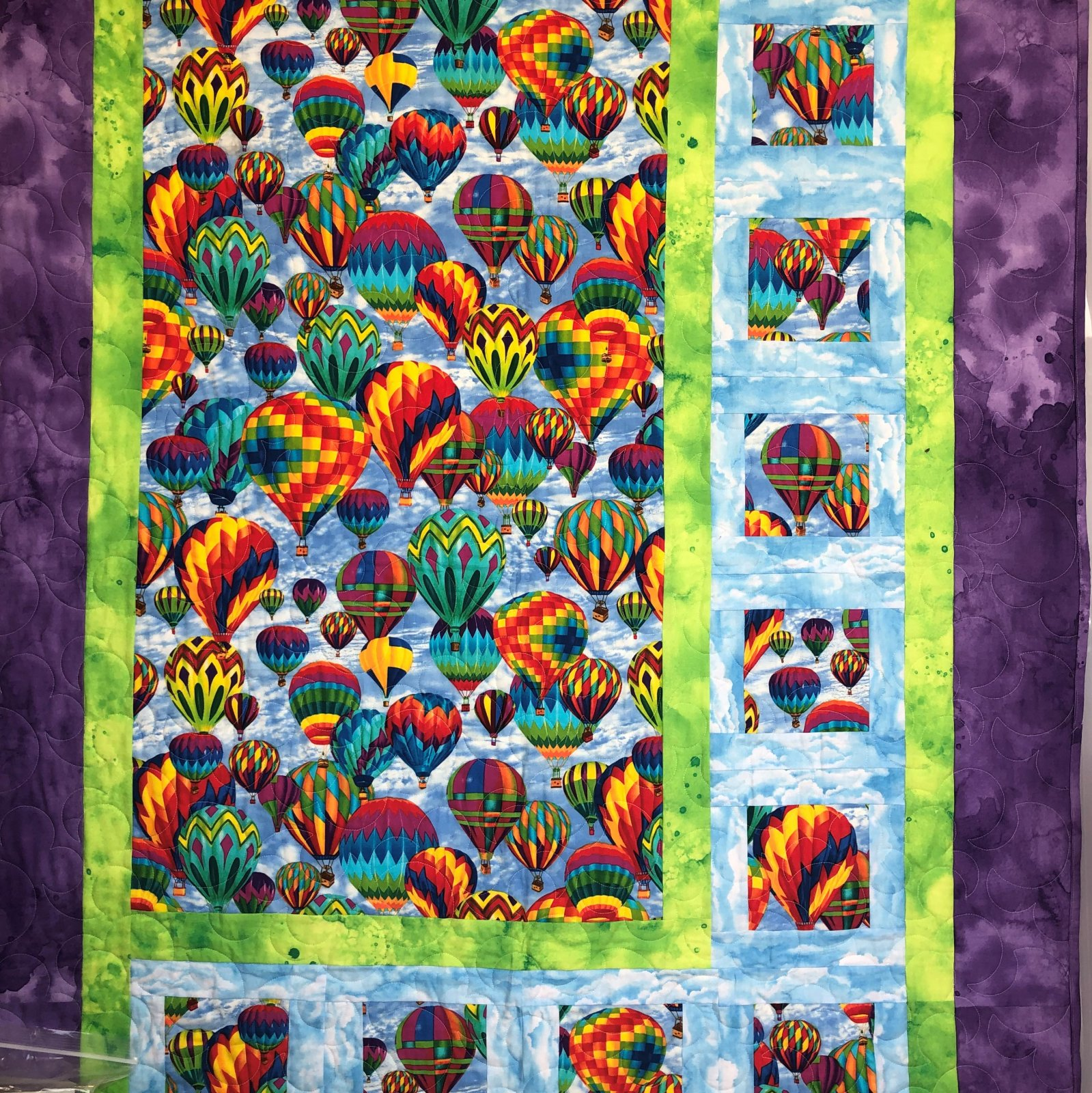 Sidelights Hot Air Balloon Quilt Kit