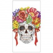 Skull Flower Wreath Towel