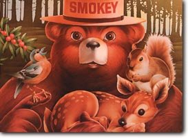 Smokey Friends Postcard