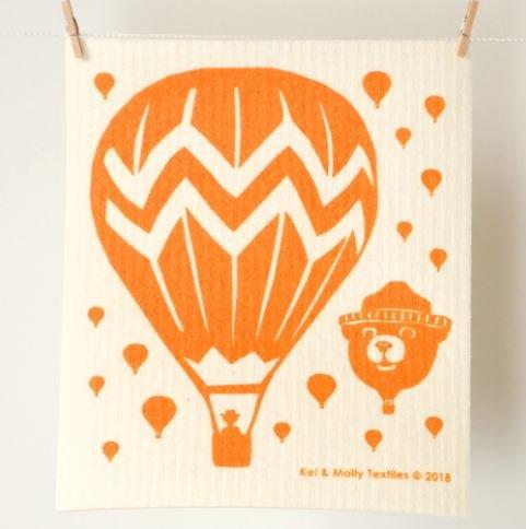 European Sponge Cloth: Balloons Orange