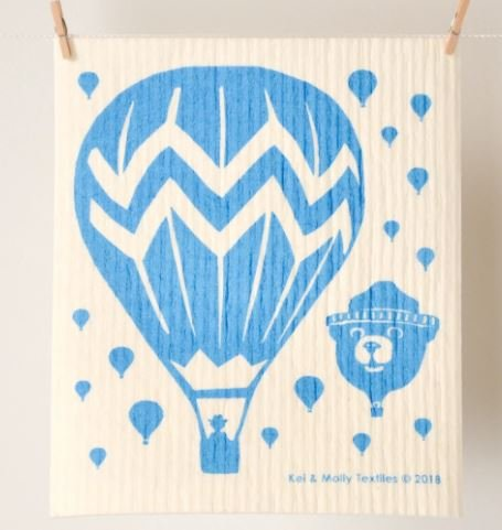 European Sponge Cloth: Balloons Turquoise