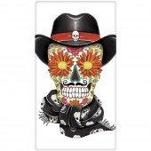 Sugar Skull Cowboy Towel