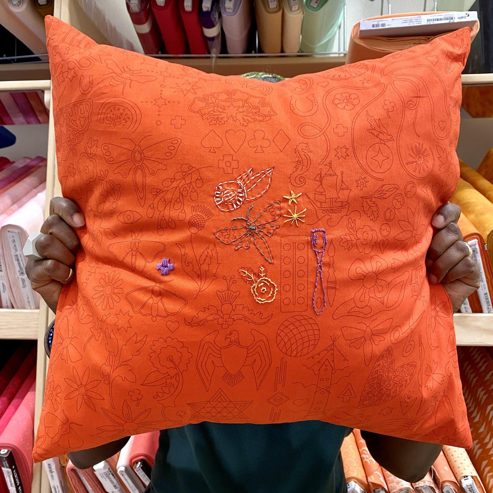 Sun Print 2020 by Alison Glass - Embroidery: Pumpkin