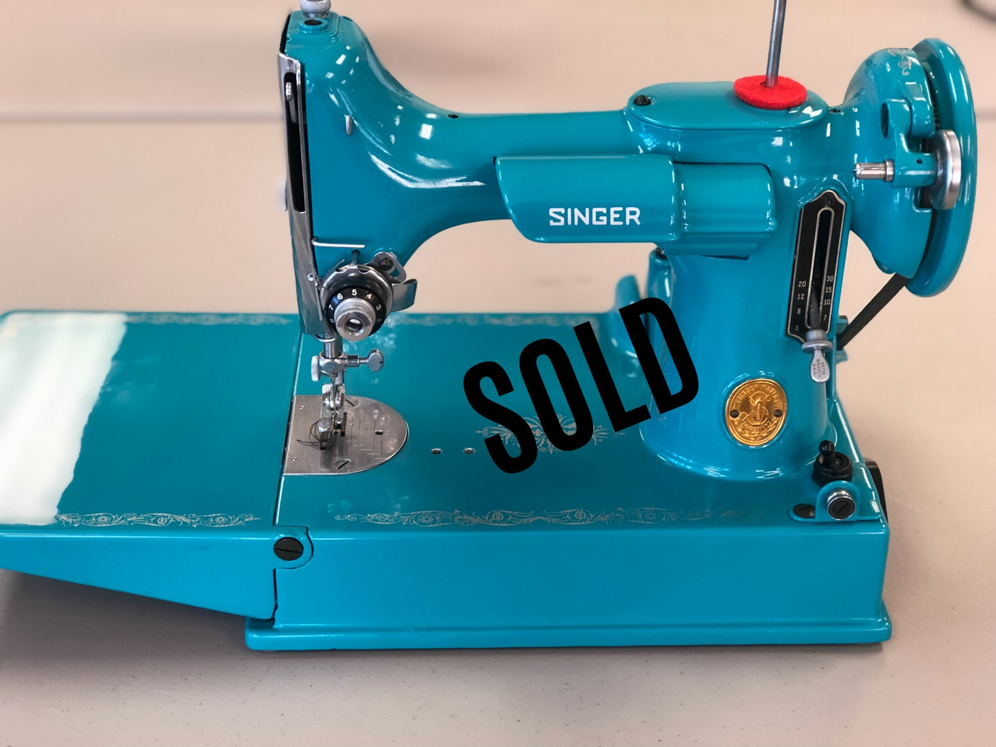 New Mexico Turquoise Singer Featherweight Machine
