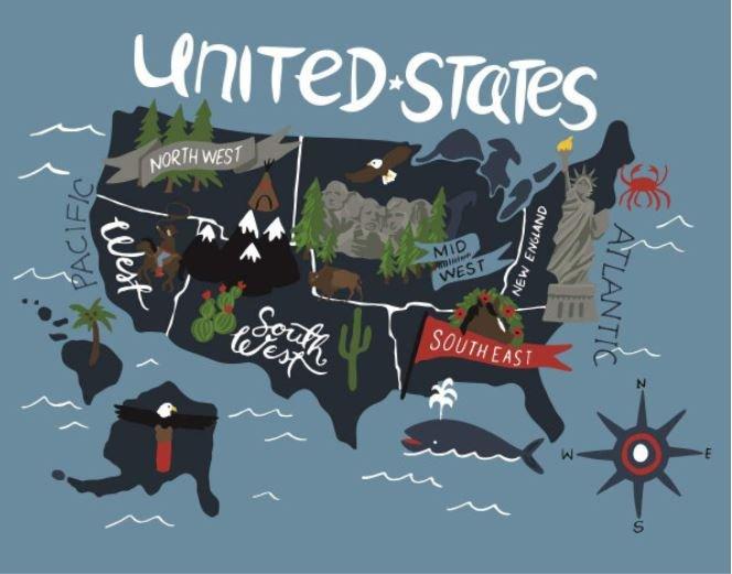 Celebrate America Map Panel