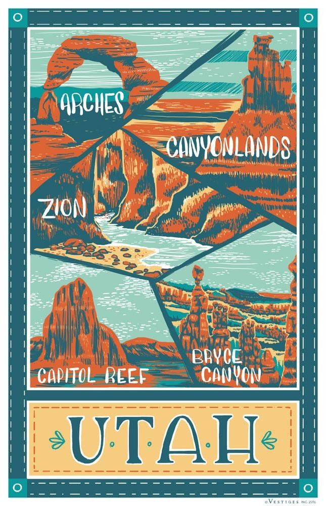 Utah Parks Kitchen Towel
