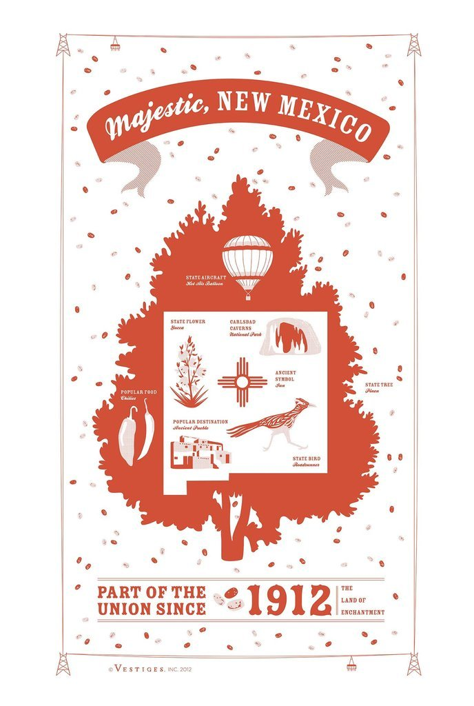 New Mexico State Kitchen Towel