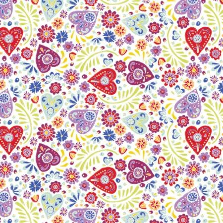 White Paisley Hearts from Camelot