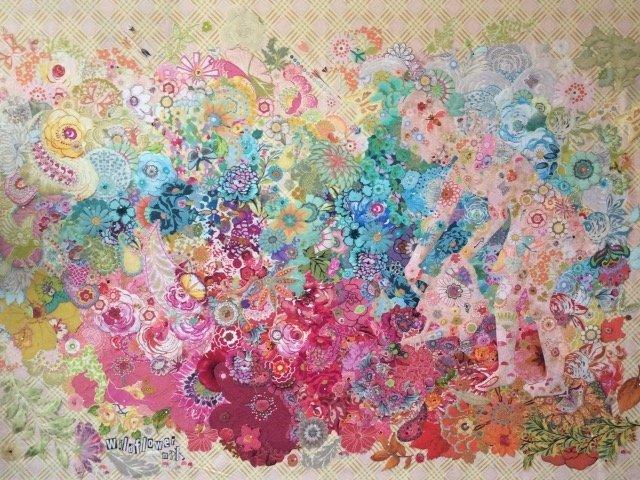 Collage Wild Flower Mix Pattern by Laura Heine