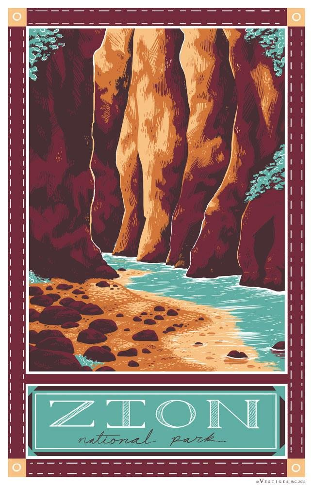 Zion National Park Kitchen Towel