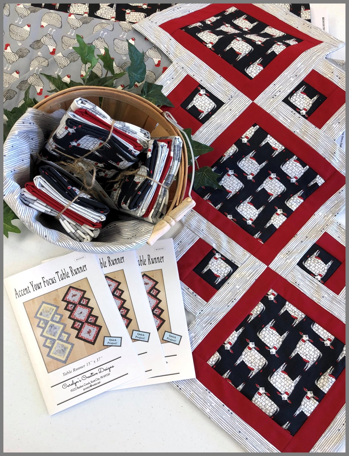 Accent Your Focus Table Runner - Farm Kit