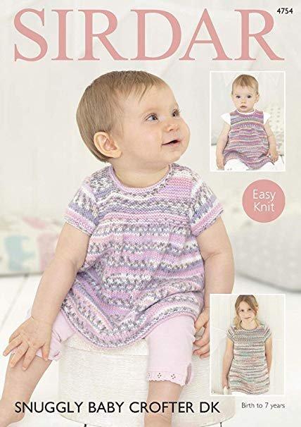 Baby Crofter DK Pattern 4754 Dresses