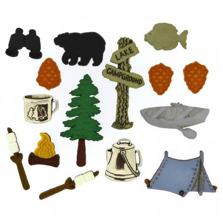Camping Buttons