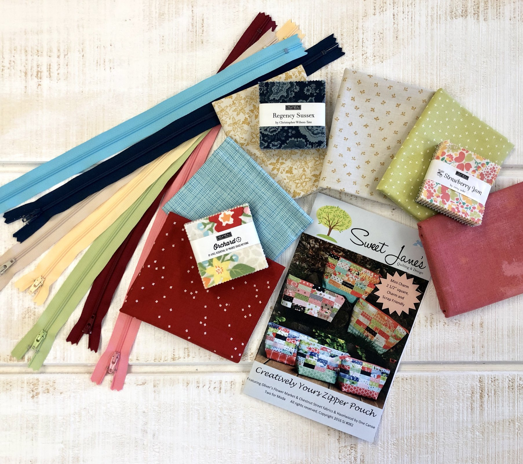 Creatively Your Zipper Pouch Kit Regency Sussex