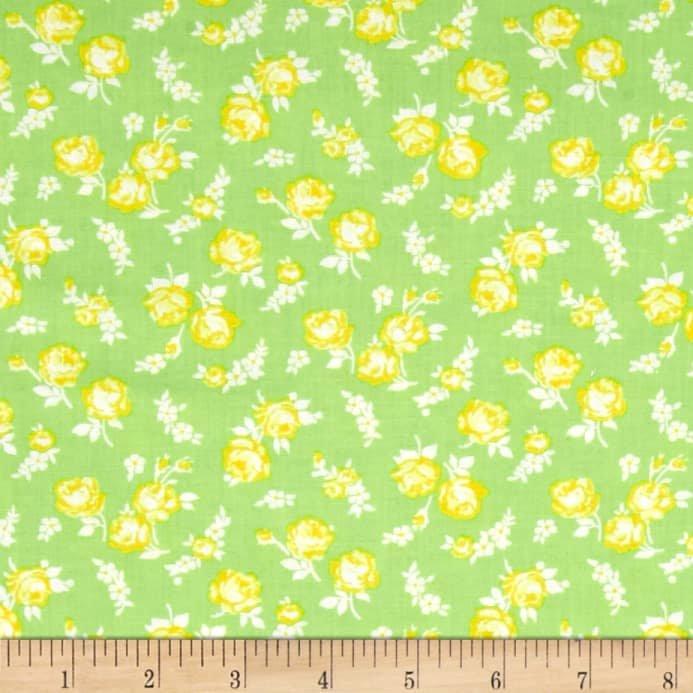 2083- First Blush Lime Mini roses