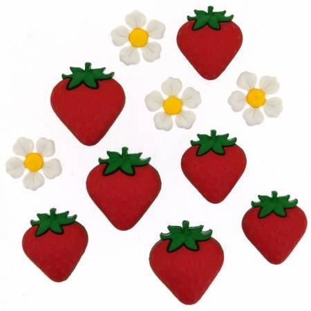 Fresh Strawberries Buttons