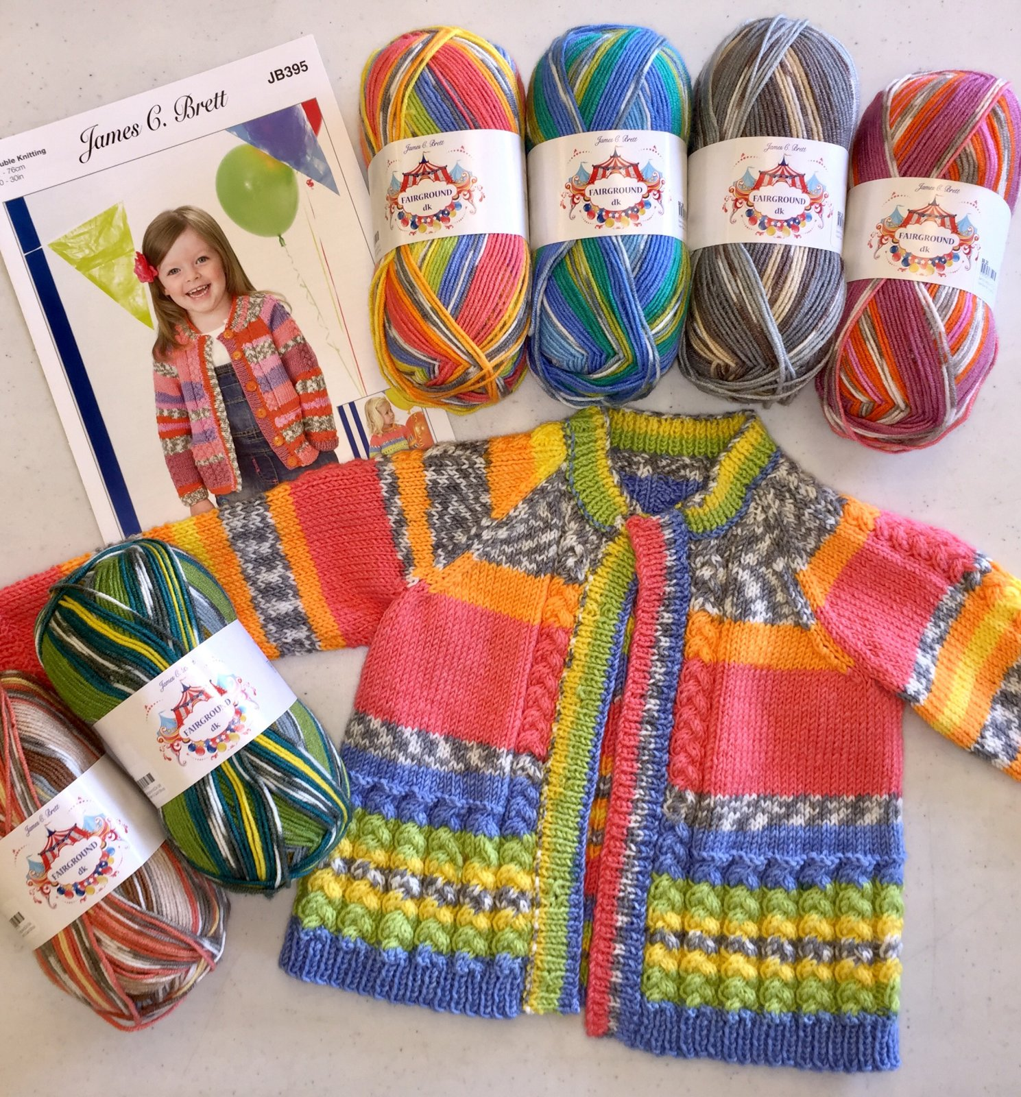 Fairground James C Brett Pattern JB395 Children's Sweater