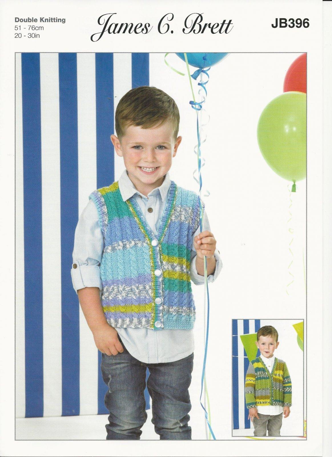Fairground James C Brett Pattern JB396 Knitted Cardigan and Sweater
