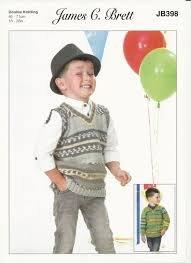 Fairground James C  Brett Pattern JB398 Boys Vest and Sweater