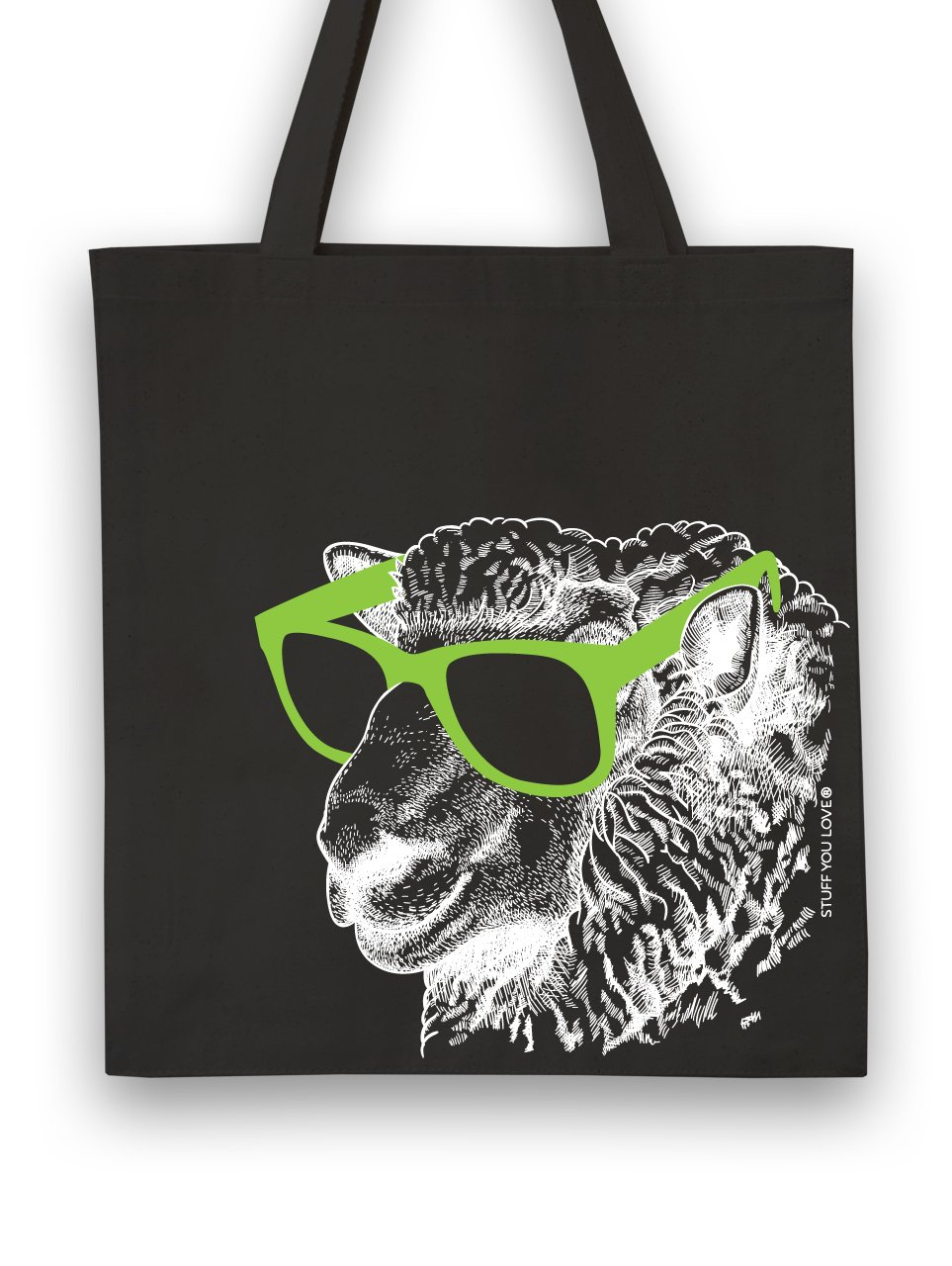 Knit Happy Tote Cool Sheep Black