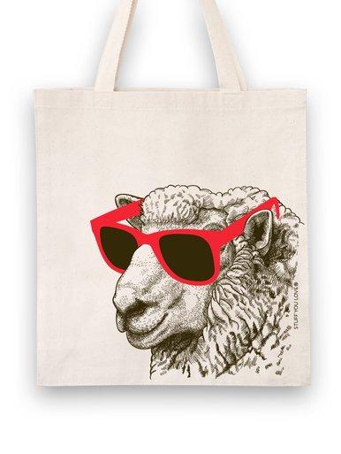 Knit Happy Tote Cool Sheep Natural