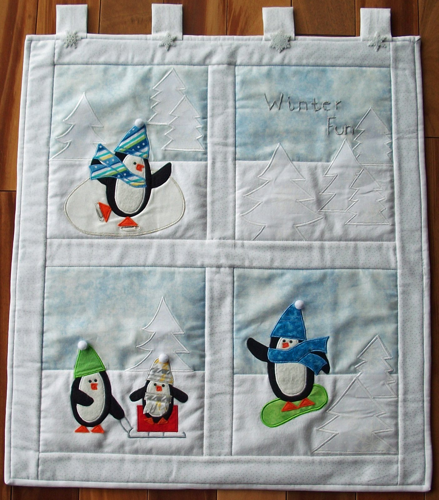 Row by Row 2017 Winter Fun Wall Hanging