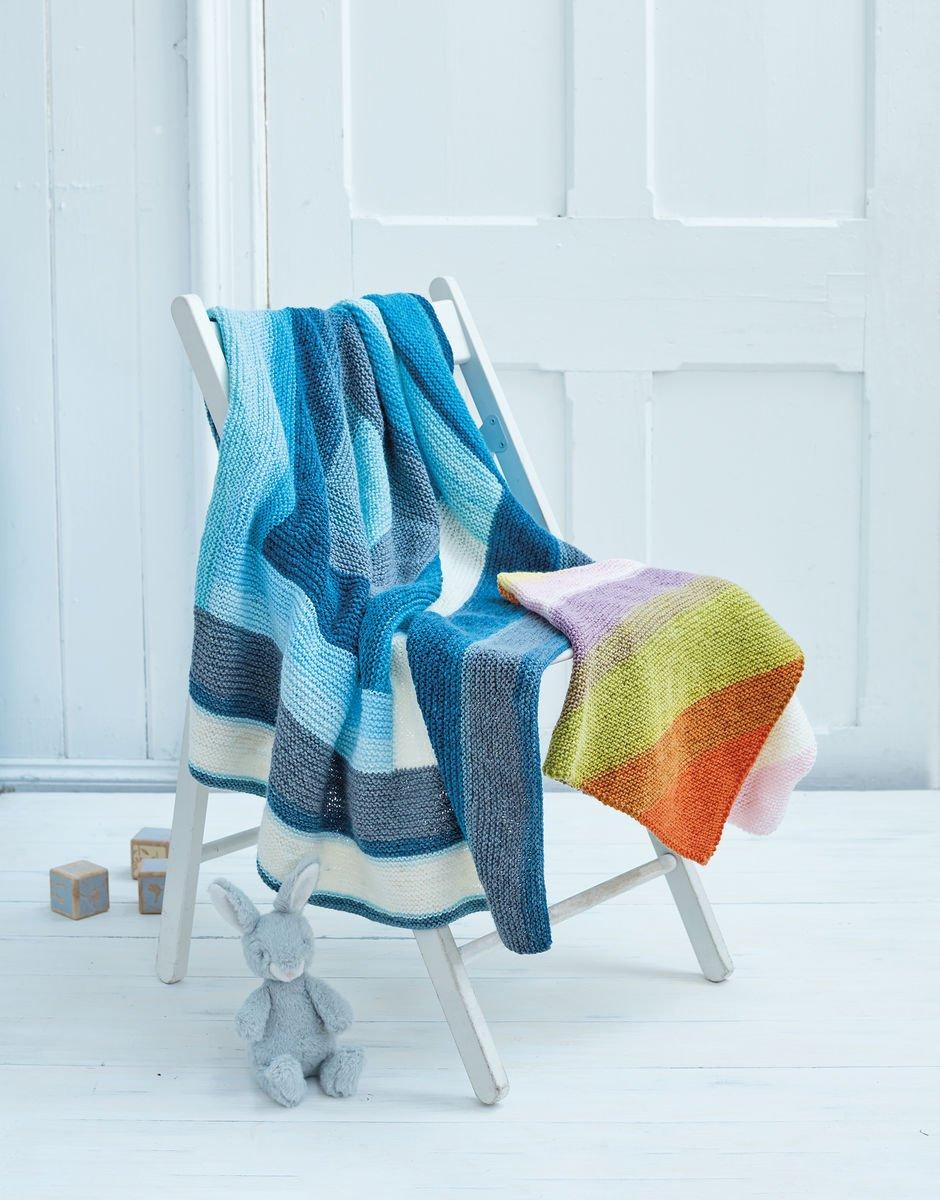 Sirdar Pattercake DK Pattern 5341 Knit Blanket