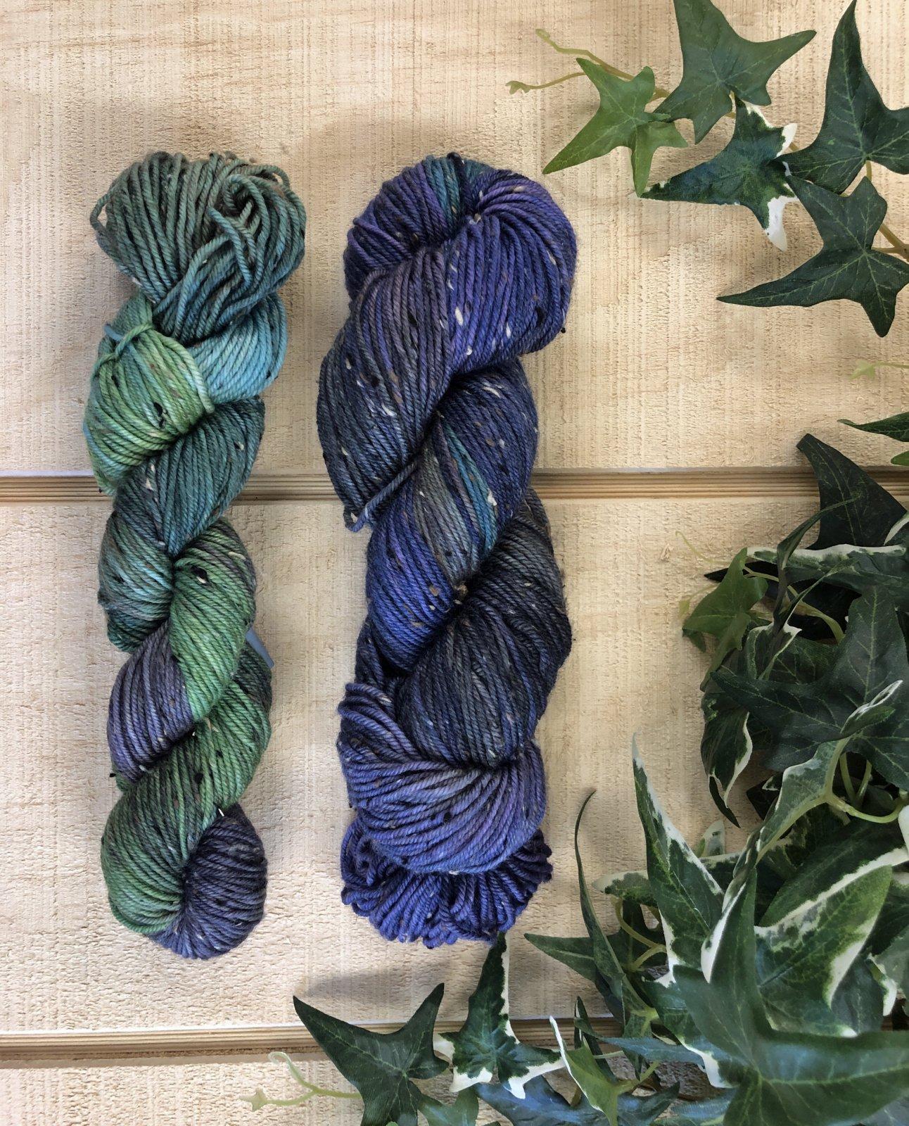 Tweed Boomerang Scarf Kit Purple