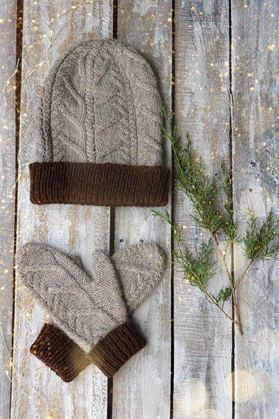Nutmeg Mittens & Hat Kit
