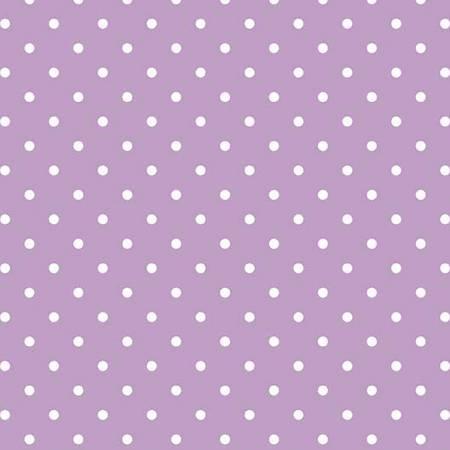 2150 White Swiss Dot on Lavender