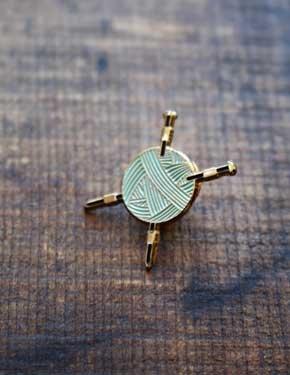 Knit Enamel Pin