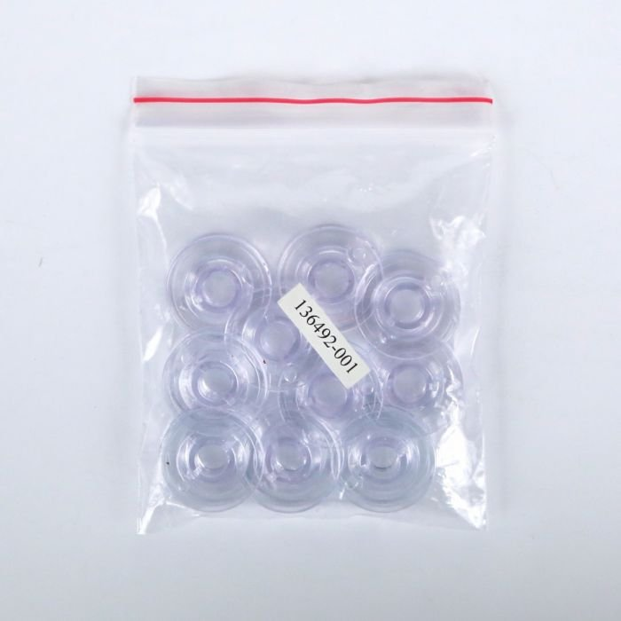 L-Style Plastic Bobbins (Empty). Pack of 10