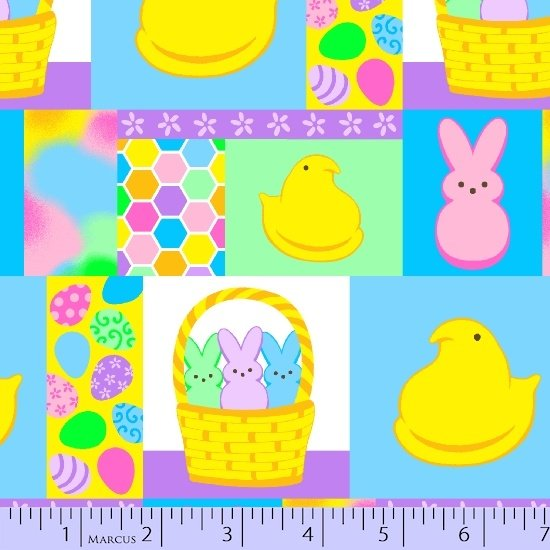 Peeps 0561-0550 Allover Easter Candy Print