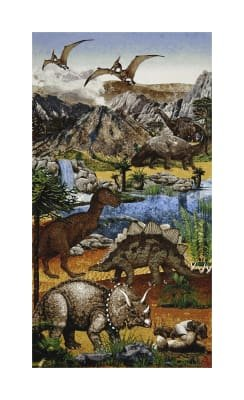 Stonehenge Kids Prehistoric Dinosaur Panel from Northcott