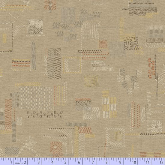 Faded & Stitched 0765-0140 by Laura Berringer for Marcus Fabrics