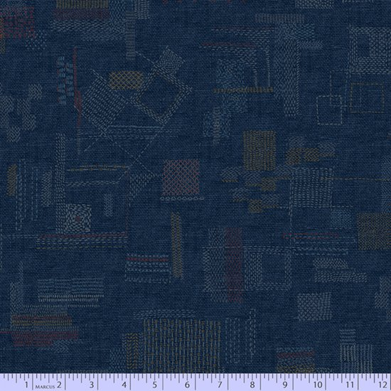 Faded & Stitched 0766-0118 by Laura Berringer for Marcus Fabrics