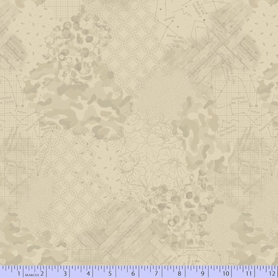 Faded & Stitched 0774-0138 by Laura Berringer for Marcus Fabrics