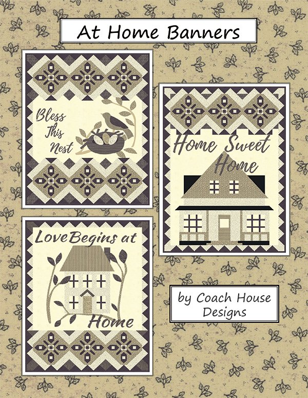 At Home Banners Pattern from Coach House Desings