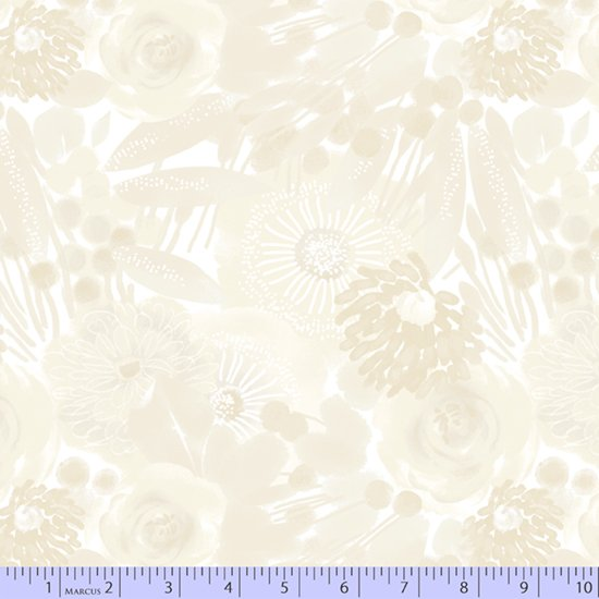 Cream Floral 0789-0143 Wide Back 108 in from Marcus Fabrics