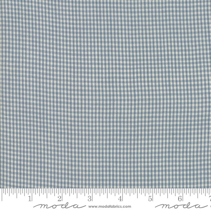 Northport Wovens 12215-16 Silky Check Medium Blue by Minick & Simpson for Moda